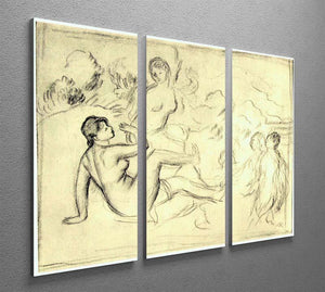 Bather 2 by Renoir 3 Split Panel Canvas Print - Canvas Art Rocks - 2