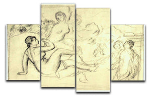 Bather 2 by Renoir 4 Split Panel Canvas  - Canvas Art Rocks - 1