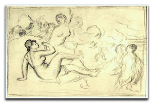 Bather 2 by Renoir Canvas Print or Poster  - Canvas Art Rocks - 1