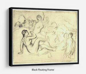 Bather 2 by Renoir Floating Frame Canvas