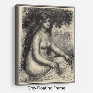 Bather 3 by Renoir Floating Frame Canvas