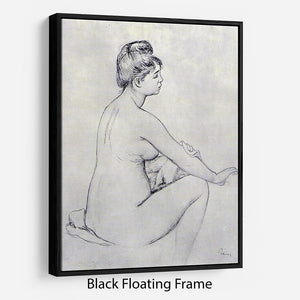 Bather by Renoir Floating Frame Canvas