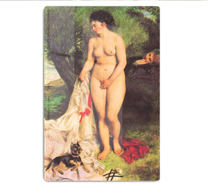 Bather with a Terrier by Renoir HD Metal Print
