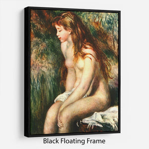 Bathing by Renoir Floating Frame Canvas