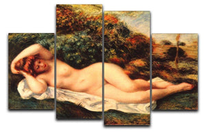 Bathing sleeping the baker by Renoir 4 Split Panel Canvas  - Canvas Art Rocks - 1