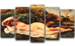 Bathing sleeping the baker by Renoir 5 Split Panel Canvas  - Canvas Art Rocks - 1