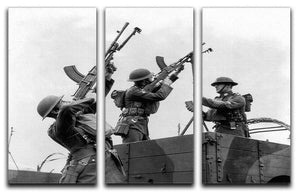 Battalion with anti-aircraft guns 3 Split Panel Canvas Print - Canvas Art Rocks - 1