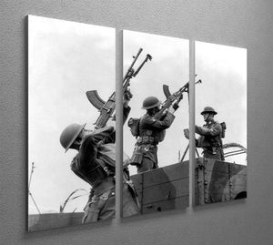 Battalion with anti-aircraft guns 3 Split Panel Canvas Print - Canvas Art Rocks - 2