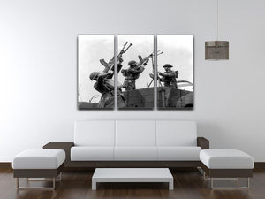 Battalion with anti-aircraft guns 3 Split Panel Canvas Print - Canvas Art Rocks - 3