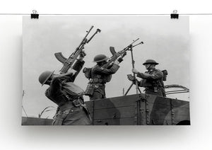 Battalion with anti-aircraft guns Canvas Print or Poster - Canvas Art Rocks - 2