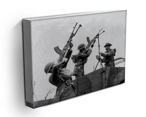Battalion with anti-aircraft guns Canvas Print or Poster - Canvas Art Rocks - 3