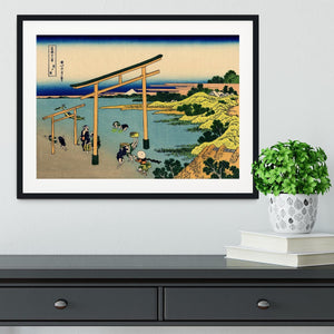 Bay of Noboto by Hokusai Framed Print - Canvas Art Rocks - 1