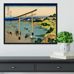 Bay of Noboto by Hokusai Framed Print - Canvas Art Rocks - 2