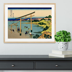 Bay of Noboto by Hokusai Framed Print - Canvas Art Rocks - 3
