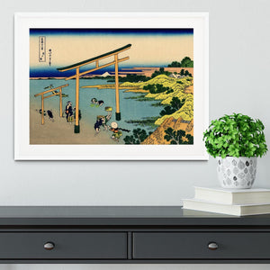 Bay of Noboto by Hokusai Framed Print - Canvas Art Rocks - 5