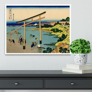 Bay of Noboto by Hokusai Framed Print - Canvas Art Rocks -6