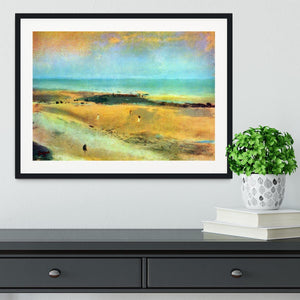 Beach at low tide 1 by Degas Framed Print - Canvas Art Rocks - 1