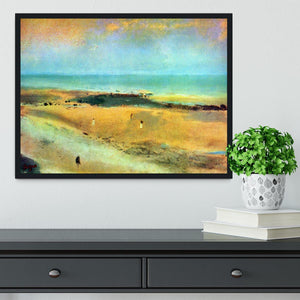 Beach at low tide 1 by Degas Framed Print - Canvas Art Rocks - 2