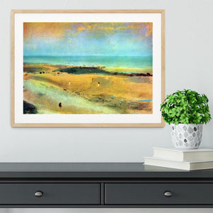 Beach at low tide 1 by Degas Framed Print - Canvas Art Rocks - 3
