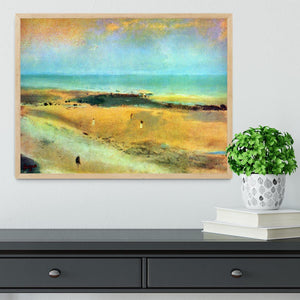 Beach at low tide 1 by Degas Framed Print - Canvas Art Rocks - 4