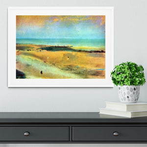 Beach at low tide 1 by Degas Framed Print - Canvas Art Rocks - 5