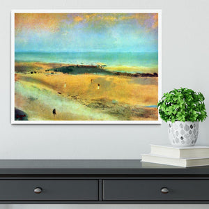 Beach at low tide 1 by Degas Framed Print - Canvas Art Rocks -6