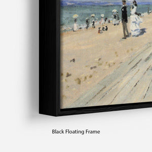 Beach at trouville by Monet Floating Frame Canvas