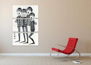 Beatles cartoon by Haro 3 Split Panel Canvas Print - Canvas Art Rocks - 2