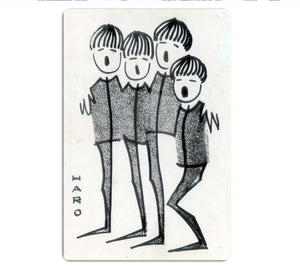 Beatles cartoon by Haro HD Metal Print