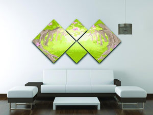 Beautiful Glade in the Magic forest 4 Square Multi Panel Canvas - Canvas Art Rocks - 3