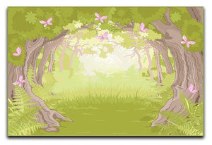 Beautiful Glade in the Magic forest Canvas Print or Poster  - Canvas Art Rocks - 1