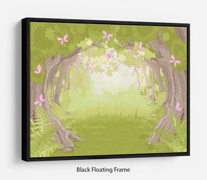 Beautiful Glade in the Magic forest Floating Frame Canvas