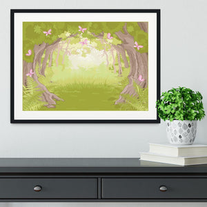 Beautiful Glade in the Magic forest Framed Print - Canvas Art Rocks - 1