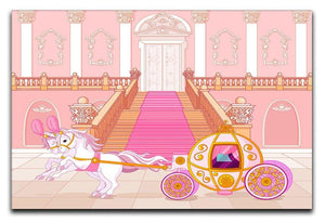 Beautiful fairytale pink carriage Canvas Print or Poster  - Canvas Art Rocks - 1