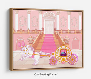 Beautiful fairytale pink carriage Floating Frame Canvas