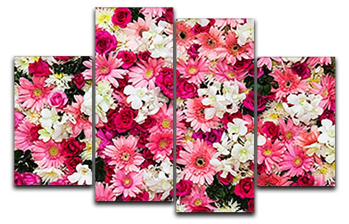 Beautiful flowers for wedding 4 Split Panel Canvas