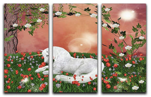 Beautiful unicorn 3 Split Panel Canvas Print - Canvas Art Rocks - 1