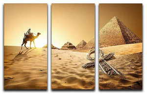 Bedouin on camel 3 Split Panel Canvas Print - Canvas Art Rocks - 1