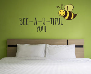 Bee-a-u-tiful Wall Sticker - Canvas Art Rocks - 1