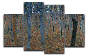 Beech Grove I by Klimt 4 Split Panel Canvas  - Canvas Art Rocks - 1