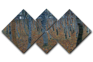 Beech Grove I by Klimt 4 Square Multi Panel Canvas  - Canvas Art Rocks - 1