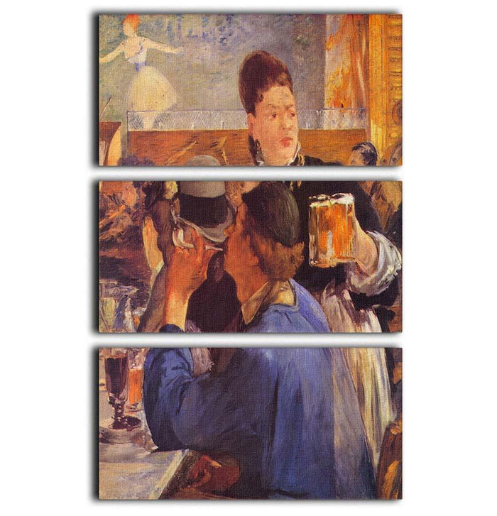Beer Waitress by Manet 3 Split Panel Canvas Print