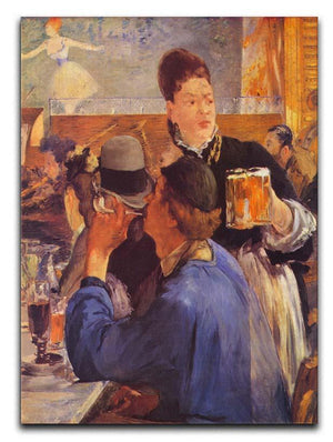 Beer Waitress by Manet Canvas Print or Poster  - Canvas Art Rocks - 1