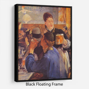 Beer Waitress by Manet Floating Frame Canvas
