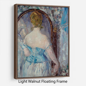 Before the Mirror by Manet Floating Frame Canvas