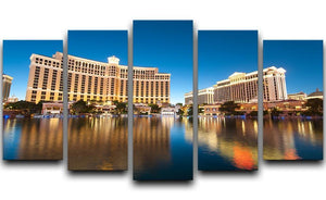 Bellagio Hotel Casino during sunset 5 Split Panel Canvas  - Canvas Art Rocks - 1
