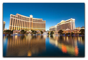 Bellagio Hotel Casino during sunset Canvas Print or Poster  - Canvas Art Rocks - 1