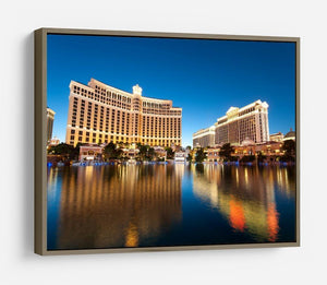Bellagio Hotel Casino during sunset HD Metal Print