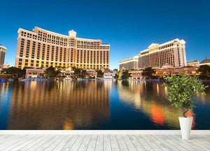 Bellagio Hotel Casino during sunset Wall Mural Wallpaper - Canvas Art Rocks - 4