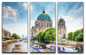 Berlin Cathedral Berliner Dom 3 Split Panel Canvas Print - Canvas Art Rocks - 1